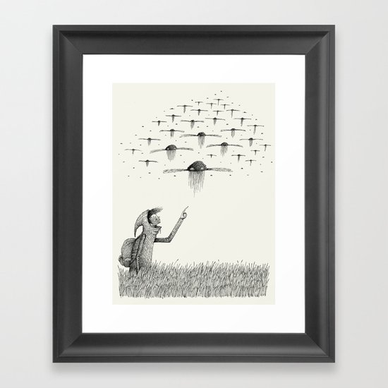 'I Saw Drones' Framed Art Print