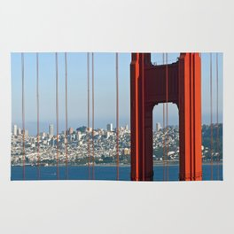 Golden Gate Bridge – Panoramic Downtown View Rug