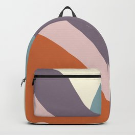 Matte pastel color blobs - abstract shapes - Matisse inspired, Purple, Petroleum,Terracotta , Pink,  Backpack