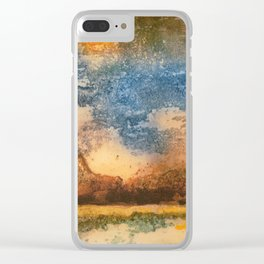 Sunset Slowly Setting Behind the Mountains Clear iPhone Case