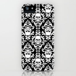 Skull Damask iPhone Case