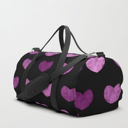 Colorful Cute Hearts VI Duffle Bag