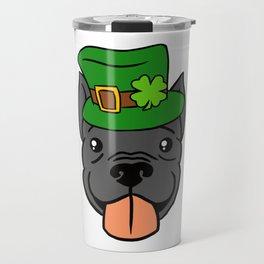 Leprechaun Pitbull - St. Patricks Day Travel Mug