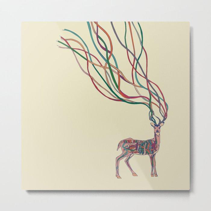 Deer Ribbons Metal Print