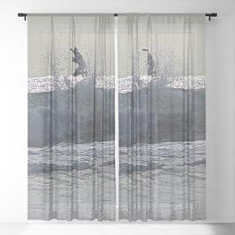 Surfer Wave Foam Surf Sea Sheer Curtain