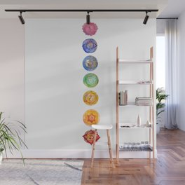 Seven Chakra alligned Watercolor art Wall Mural