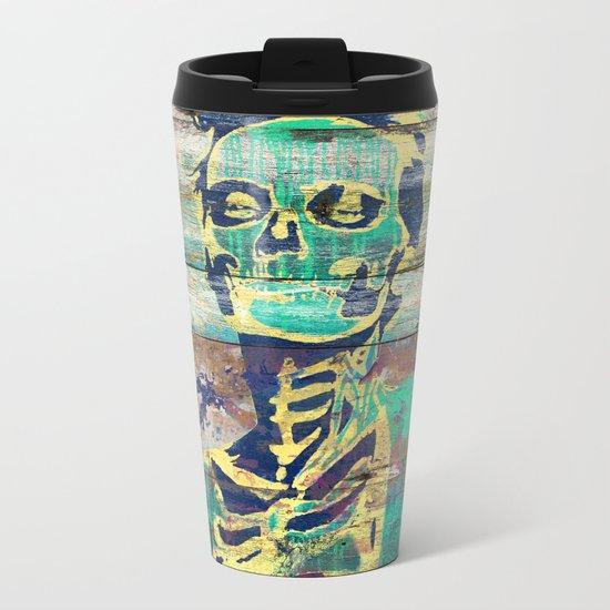 Life and Dead (Sugar Skull Girl) Metal Travel Mug