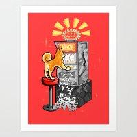 shiba Art Prints featuring Shiba Slots by  terrorbunnystudios