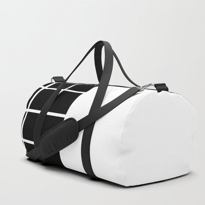 GRIDS (BLACK-WHITE) Duffle Bag