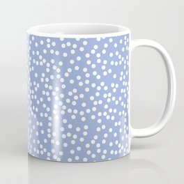Periwinkle and White Polka Dot Pattern Coffee Mug
