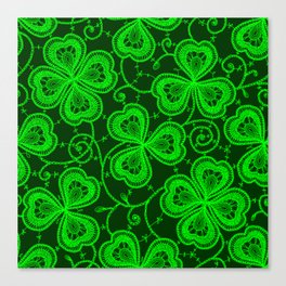 Clover Lace Pattern Canvas Print