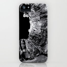 High Contrast Bullet Hole - Kill Your Television Abstract iPhone Case