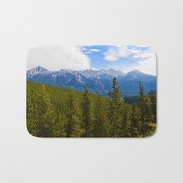 Collin Range as seen from the Palisades in Jasper National Park, Canada Bath Mat