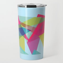 Fractal Bear - neon colorways Travel Mug