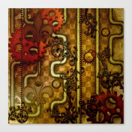 Noble Steampunk design, clocks and gears Canvas Print