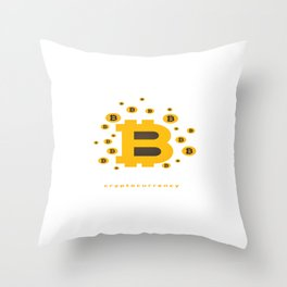 Bitcoin Cryptocurrency Throw Pillow