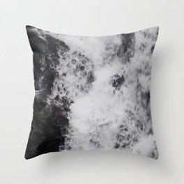 Foaming Waterfall Pareidolia Throw Pillow