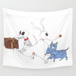 3 Dead Dogs Wall Tapestry