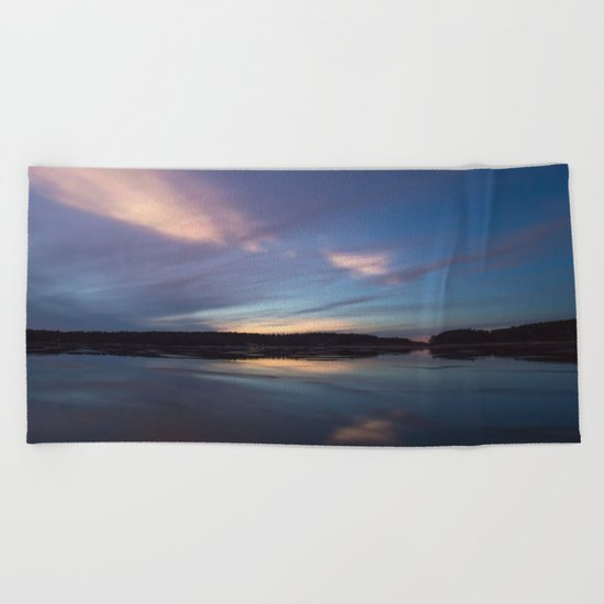 Just before the night arrives Beach Towel