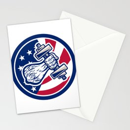 American Personal Trainer USA Flag Icon Stationery Cards