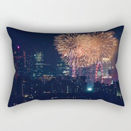 Fireworks in the City (Color) Rectangular Pillow