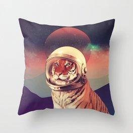 Cosmos Cat Throw Pillow
