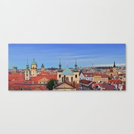 View of colorful old town in Prague Canvas Print