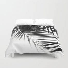 Palm Leaves Black & White Vibes #1 #tropical #decor #art #society6 Duvet Cover