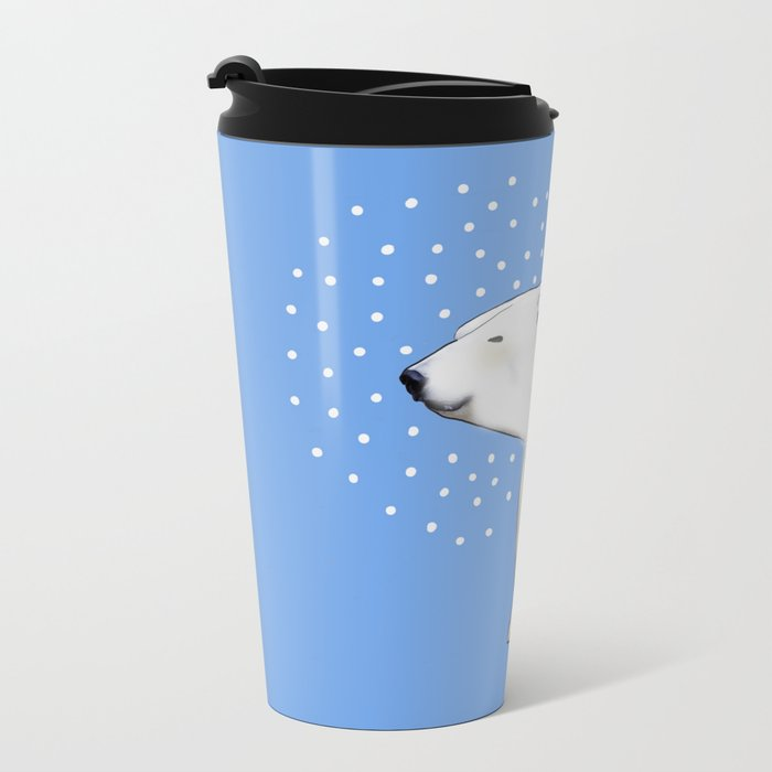 Polar Bear #8 Metal Travel Mug
