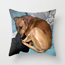Snuggling Mom's Hoodie Throw Pillow