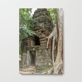 Ta Phrom, Angkor Archaeological Park, Siem Reap, Cambodia Metal Print