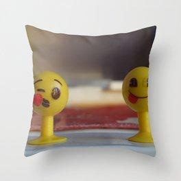 smiled faces Throw Pillow
