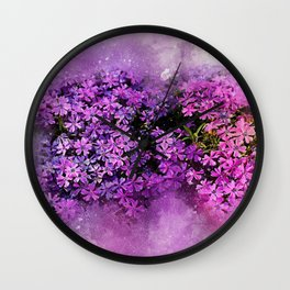 Lilac Lavender Flowers Wall Clock