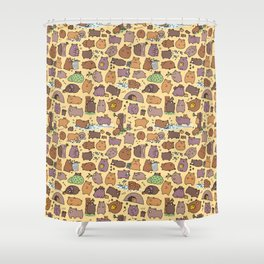 Beary Cute Bears Shower Curtain