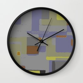 Circuits and Shapes II Wall Clock