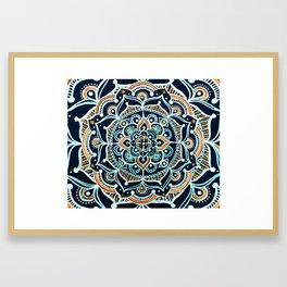 Bohemian Zen Mandala Framed Art Print
