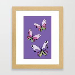 Vibrant Butterflies_Purple Framed Art Print