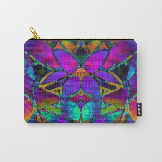 Floral Fractal Art G308 Carry-All Pouch