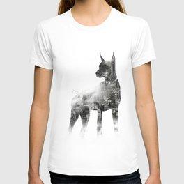 Doberman Pinscher NYC Skyline T-shirt
