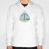 libra Hoodies featuring Libra by Giuseppe Lentini