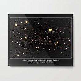 391. The Milky Way's 100 Billion Planets Metal Print