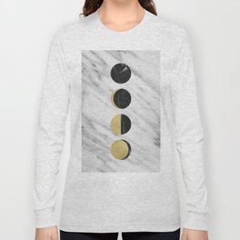 Black Moon on Marble Long Sleeve T-shirt