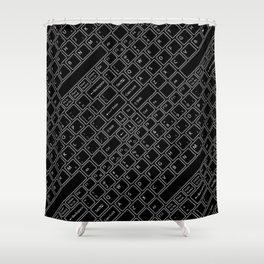 Keyboarded BLACK Shower Curtain