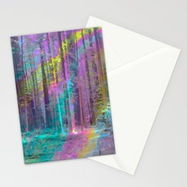 Forest from Inside a Bubble Stationery Cards