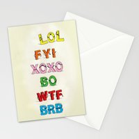 Some Internet Abreviations Stationery Cards
