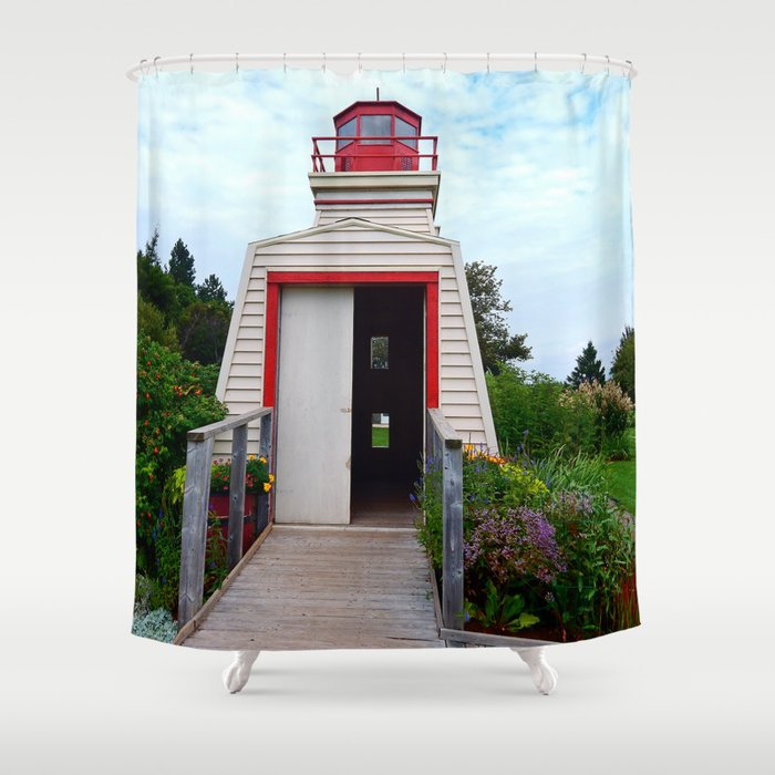 Lighthouse Shed Shower Curtain
