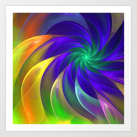 Abstract Color Swing Art Print