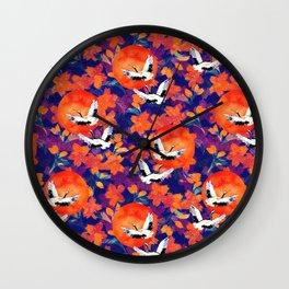 Japanese Garden: Cranes, Sun and Blossoms DK Wall Clock