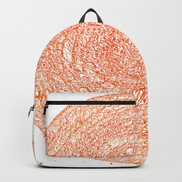 An Orange Wishes, asemic calligraphy for home and office decoration Backpack
