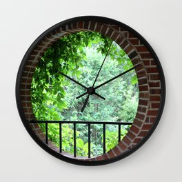A Window with a View Wall Clock